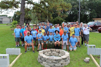 Eagle Scout Project at Temple Israel - Fire Pit